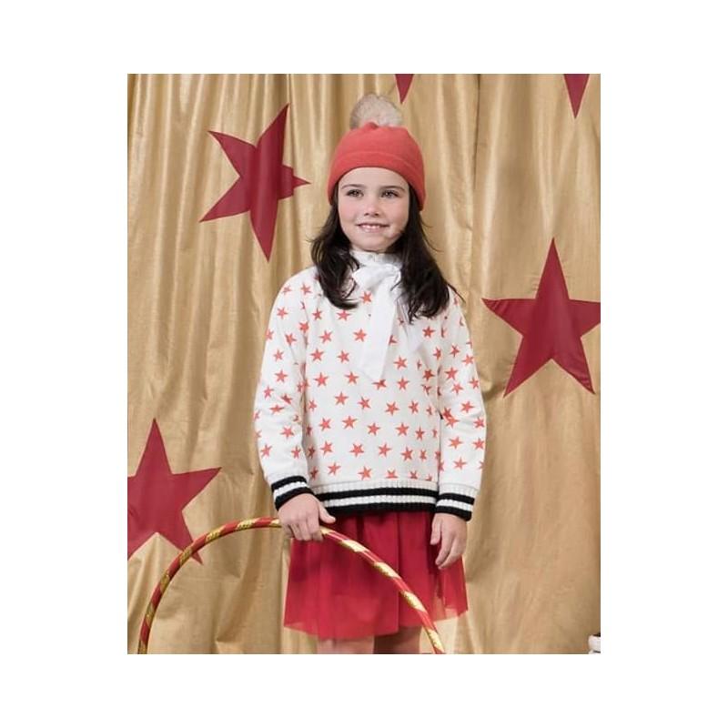 d8255663b Sudadera niña de Lunares en Mayo estrellas coral | Ropa Infantil