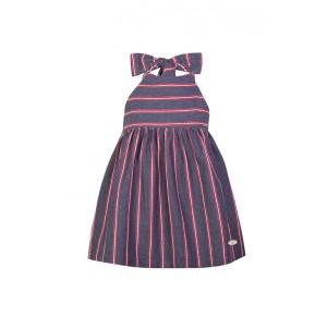 Vestido niña de Eve Children a rayas azul y rojo
