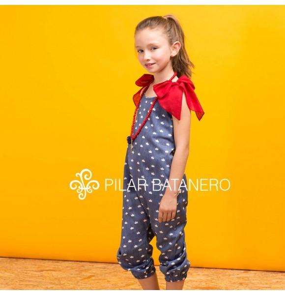 Mono niña Coronas de Pilar Batanero azul