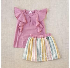 Conjunto niña Arco Iris de Pilar Batanero tricolor