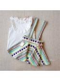 Conjunto niña Verona de Noma Fernández blusa y falda