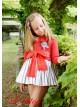 Vestido niña Navy de Lolittos rayas rojo