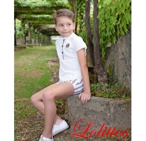 Conjunto niño Navy de Lolittos rayas rojo