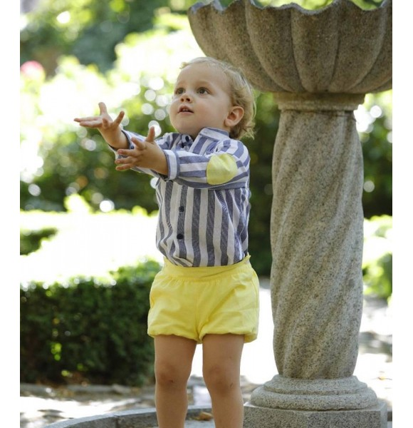 Conjunto bebé niño Sion de Lapeppa camisa y bombacho