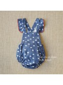 Conjunto bebé niño Coronas de Pilar Batanero azul
