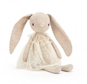 Peluche conejita con vestido beige de Jellycat