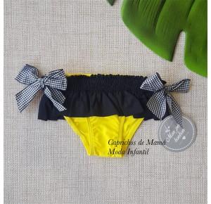 Culetín niña de Mon Petit amarillo y negro