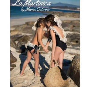Culetín niña Capri de La Martinica negro con encaje