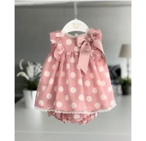 Jesusito bebé niña de Valentina Bebés lunares rosa