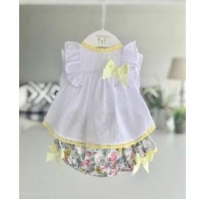 Conjunto niña de Valentina Bebés braguita mariposas