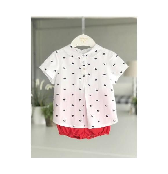 3bfa37b2e Conjunto bebé niño de Valentina Bebés camisa perritos