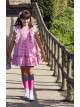 Vestido niña Isabella de Eva Castro vichy rosa
