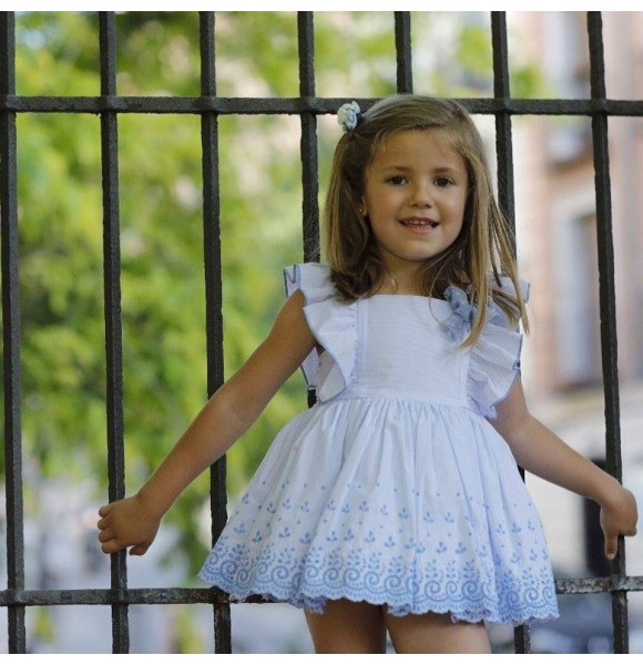 Vestido niña Thaiti de Lapeppa rayas azul