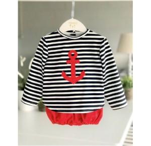 Conjunto bebé niño de Valentina Bebés marinero