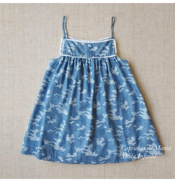 Vestido niña de Mía y Lía camuflaje azul