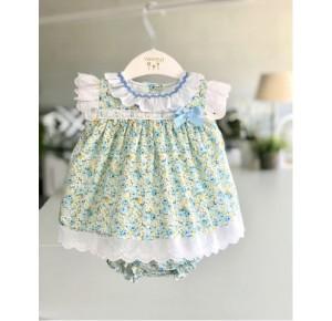 Jesusito bebé niña de Valentina Bebés florecitas azul
