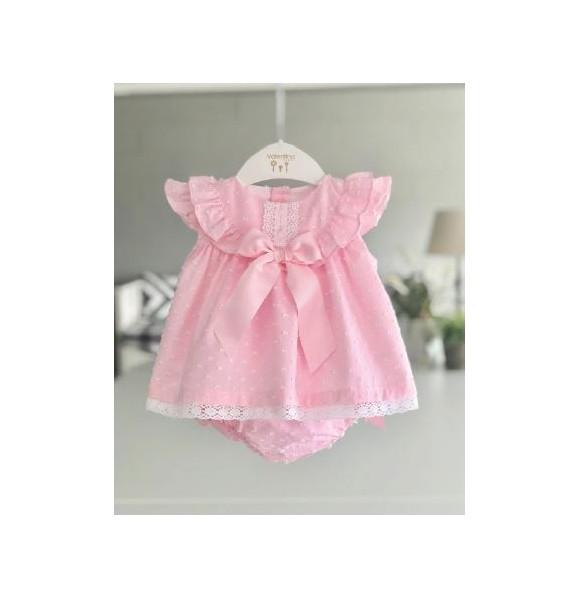 bf7aa9e46 Jesusito bebé niña de Valentina Bebés plumeti rosa