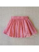 Falda niña de Mía y Lía rosa con girasoles