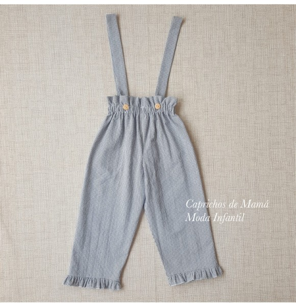 Pantalón niña de My Bella Moon vichy blanco y negro