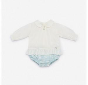 Pelele bebé niña Duende de Paz Rodríguez combinado